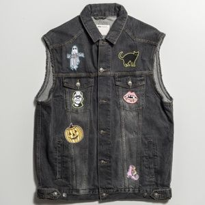 Spooky Halloween Patch Made to Order Vest Unisex
